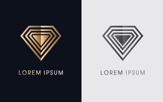 moderner abstrakter Diamantschmuck vektor