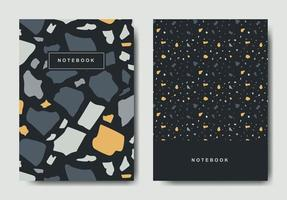 Terrazzo abstrakte Deckblattvorlagen. universelle abstrakte Layouts. anwendbar für Notizbücher, Planer, Broschüren, Bücher, Kataloge vektor