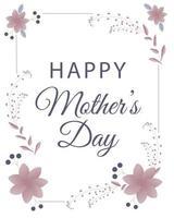 glücklicher Muttertagsbanner mit Blumen. Perfekt für Grußkarten, Websites, Banner oder Tags. Vektorillustration. vektor