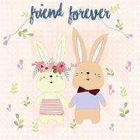 Vintage lila und rosa Frühling Sommer romantische Rose Blume Wasserfarbe Muster Stil Hintergrund und Hochzeit Paar niedlichen Bär Liebe speichern Datumskarte vektor