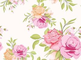 nahtloses Musterblumenkonzeptschablonenentwurf für Textil und Tapete vektor