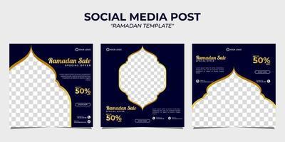 Ramadan Verkauf Social Media Post Vorlage vektor