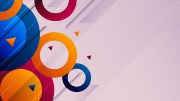 abstrakter bunter geometrischer Formenhintergrund. dynamisches trendiges Banner-Design. vektor