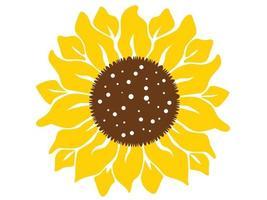 Sonnenblume lokalisiert auf weißem Hintergrund. Boho Tribal print.flat Design Illustration Vektor