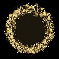 Guldstjärnor och glitterbakgrund vektor
