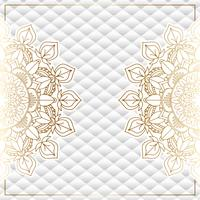 Elegant bakgrund med guldmandala design