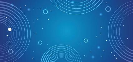 abstrakter blauer Kreise Technologiehintergrund oder Fahne vektor