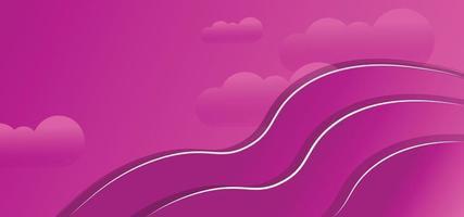 abstrakte Wolken geometrische Formen schönen Hintergrund oder Banner vektor