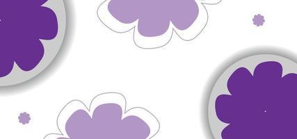 lila sömlös blommönster eller bakgrund vektor