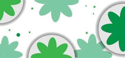modernes grünes Blumen nahtloses Muster oder Hintergrund vektor
