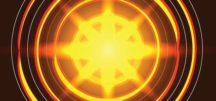 schöner Sonnenhintergrund oder Fahne der modernen Sonnenstrahlen orange vektor