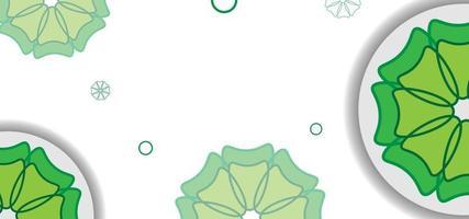grünes Blumen nahtloses Muster oder Hintergrund vektor
