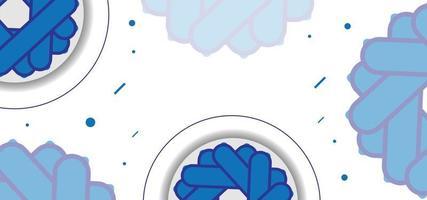 blaues nahtloses Blumenmuster oder Hintergrund vektor