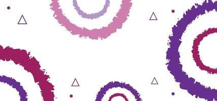 borstar cirklar sömlösa mönster eller bakgrund vektor