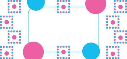 moderner geometrischer Punkt schöner Hintergrund oder Fahne vektor