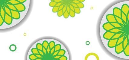 grünes und gelbes nahtloses Blumenmuster oder Hintergrund vektor