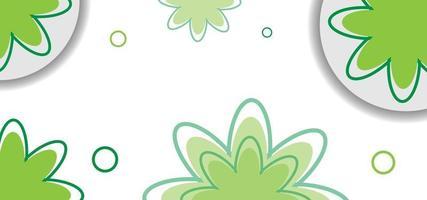 grön sömlös blommönster eller bakgrund vektor