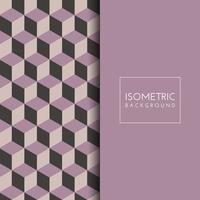 Isometrischer Würfelmusterhintergrund vektor