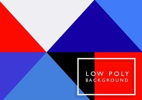 Low-Poly-Hintergrund mit hellen Farben vektor