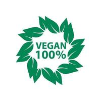 vegane Ikone Bioökologie Bio, Logos Etikett Tag grünes Blatt vektor