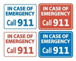 911 Feuerrettungspolizei Zeichen vektor