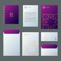Business Hotel und Resort Spa Branding Identität Vorlage Corporate Company Design vektor