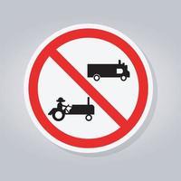 verbieten landwirtschaftliche Fahrzeuge Zeichen vektor