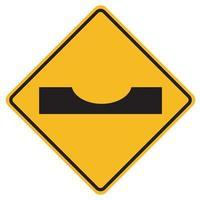 Warn-Verkehrszeichen tauchen auf weißem Hintergrund ein vektor