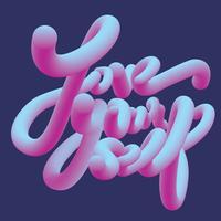 Lieben Sie sich Typografie-Vektor-Design vektor