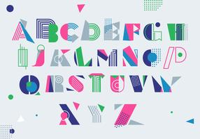 Moderner Colorfull Memphis-Art-griechischer Alphabet-Vektor
