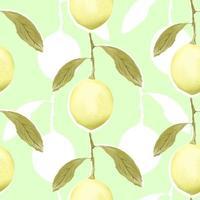 sömlösa mönster med citroner. vektor
