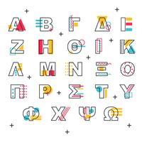 Griechischer Alphabet-Vektor Memphis