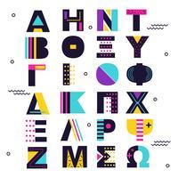 Abstrakter griechischer Alphabet-Vektor vektor
