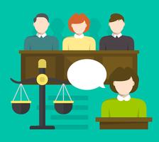 Trial av juryn vektor