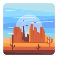 Westliche Wüstenlandschaft vektor