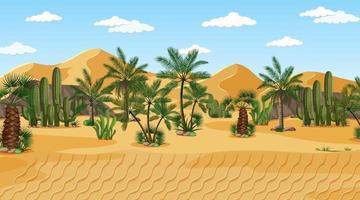 Wüstenwaldlandschaft bei Tageszeitszene vektor