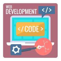 Web Entwicklung vektor