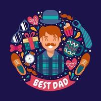 niedlicher Vatertagsentwurf vektor