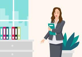 Berufsfrau-Vektor-Illustration vektor