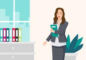 Berufsfrau-Vektor-Illustration