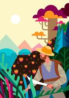 Natur-Explorer-Illustration