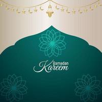 ramadan kareem vektorillustration med kreativ bakgrund vektor