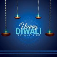 glad diwali festival av ljus vektor