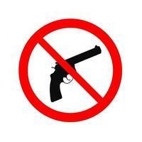 kein Waffenschild - Waffenverbot - hör auf, Vektor-Emblem zu schießen vektor