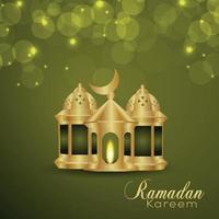 ramadan kareem inbjudningskort med vektorillustration vektor