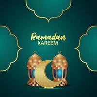 ramadan kareem firande gratulationskort, ramadan kareem islamisk festival bakgrund vektor