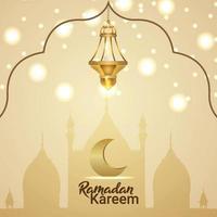 ramadan kareem firande gratulationskort med kreativa vektor lykta
