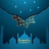 islamisk festival för ramadan kareem inbjudningskort med mönsterbakgrund vektor