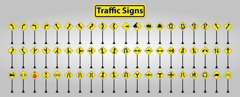Warnverkehrszeichen setzen, Verbotssymbolzeichen auf weißem Hintergrund isolieren vektor