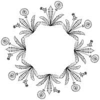 Löwenzahn Rahmen Grenze vektor